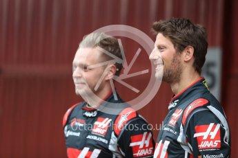 World © Octane Photographic Ltd. Formula 1 winter test 1, Haas F1 Team VF-17 physical unveil - Romain Grosjean and Kevin Magnussen, Circuit de Barcelona-Catalunya. Monday 27th February 2017. Digital Ref : 17779LB1D8139