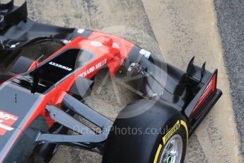 World © Octane Photographic Ltd. Formula 1 winter test 1, Haas F1 Team VF-17 physical unveil, Circuit de Barcelona-Catalunya. Monday 27th February 2017. Digital Ref : 1779CB1D5939
