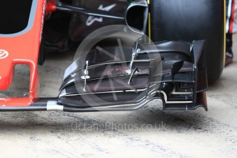 World © Octane Photographic Ltd. Formula 1 winter test 1, Haas F1 Team VF-17 physical unveil ,Circuit de Barcelona-Catalunya. Monday 27th February 2017. Digital Ref : 1779LB1D8152