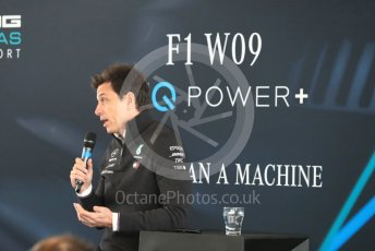 World © Octane Photographic Ltd. Formula 1 –. Mercedes AMG Petronas Motorsport AMG F1 W09 EQ Power+ launch, Toto Wolff (Team Principal and CEO) – Silverstone, UK. Thursday 22nd February 2018. Digital Ref : 2020CB1D7830