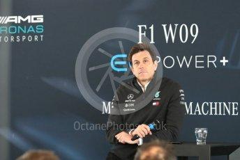 World © Octane Photographic Ltd. Formula 1 –. Mercedes AMG Petronas Motorsport AMG F1 W09 EQ Power+ launch, Toto Wolff (Team Principal and CEO) – Silverstone, UK. Thursday 22nd February 2018. Digital Ref : 2020CB1D7841