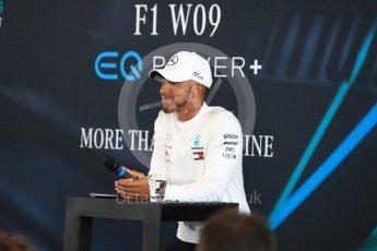 World © Octane Photographic Ltd. Formula 1 –. Mercedes AMG Petronas Motorsport AMG F1 W09 EQ Power+ launch, Lewis Hamilton – Silverstone, UK. Thursday 22nd February 2018. Digital Ref : 2020LB1D7907