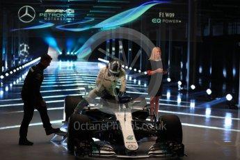 World © Octane Photographic Ltd. Formula 1 –. Mercedes AMG Petronas Motorsport AMG F1 W09 EQ Power+ launch, Valtteri Bottas – Silverstone, UK. Thursday 22nd February 2018. Digital Ref : 2020LB1D8068