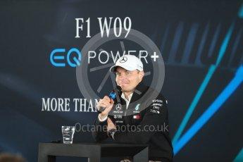 World © Octane Photographic Ltd. Formula 1 –. Mercedes AMG Petronas Motorsport AMG F1 W09 EQ Power+ launch, Valtteri Bottas – Silverstone, UK. Thursday 22nd February 2018. Digital Ref : 2020LB1D8252