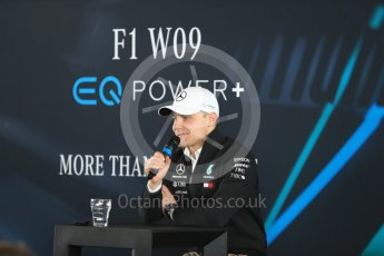 World © Octane Photographic Ltd. Formula 1 –. Mercedes AMG Petronas Motorsport AMG F1 W09 EQ Power+ launch, Valtteri Bottas – Silverstone, UK. Thursday 22nd February 2018. Digital Ref : 2020LB1D8254