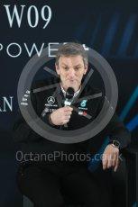 World © Octane Photographic Ltd. Formula 1 –. Mercedes AMG Petronas Motorsport AMG F1 W09 EQ Power+ launch, James Allison (Technical Director) – Silverstone, UK. Thursday 22nd February 2018. Digital Ref : 2020LB1D8282