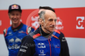 World © Octane Photographic Ltd. Formula 1 – Winter Test 1. Scuderia Toro Rosso STR13 Car Launch with Franz Tost. Circuit de Barcelona-Catalunya, Spain. Monday 26th February 2018.