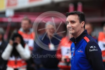 World © Octane Photographic Ltd. Formula 1 – Winter Test 1. Scuderia Toro Rosso STR13 Car Launch James Key. Circuit de Barcelona-Catalunya, Spain. Monday 26th February 2018.