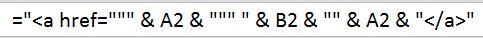 html excel formula