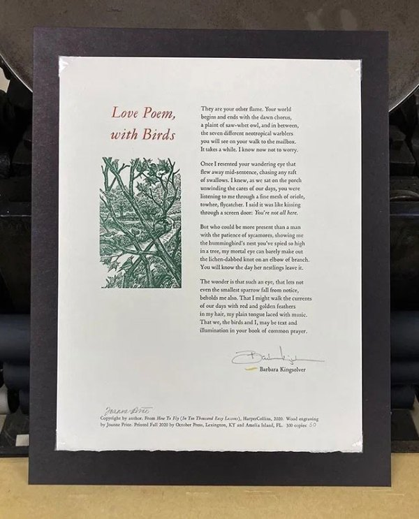 Love Poem, with Birds