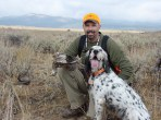 October Sadie's first Sage Grouse- Hazel x Chaco