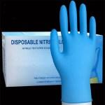 Protective Nitrile Gloves Case of 5