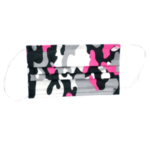 Disposable Protective Face Mask 50ct Box – Pink Camouflage