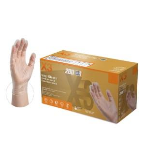 GPX3 Industrial Vinyl Gloves 200ct Case of 5