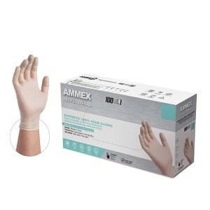 AMMEX Medical Grade Ivory Stretch Vinyl Gloves Case of 5