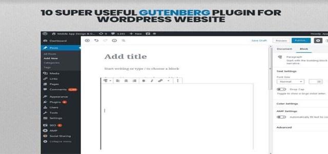 10 Super Useful Gutenberg Plugin For WordPress Website