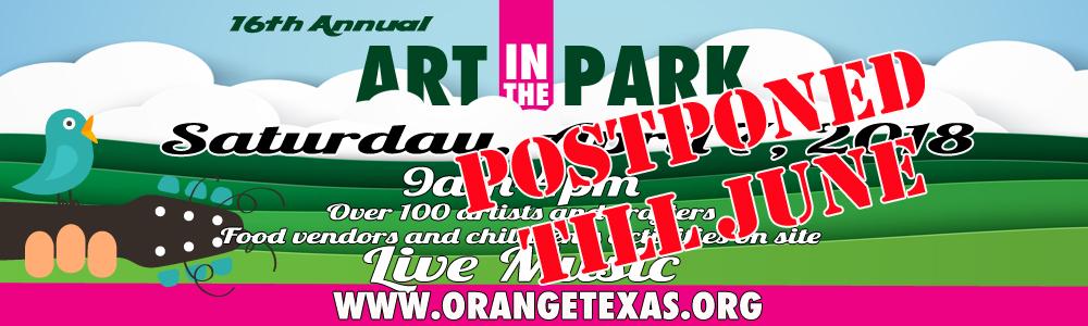 Art in the Park Postponed