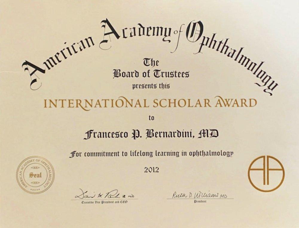 AAO 2012 SCHOLAR AWARD