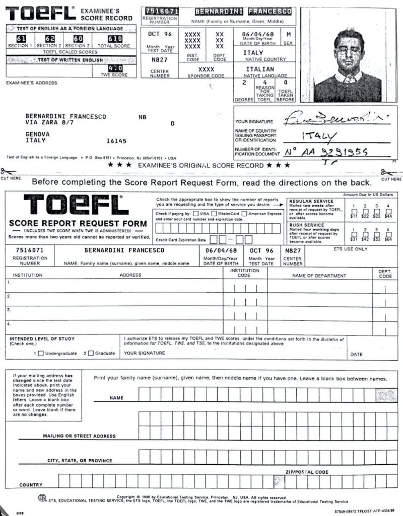 TOEFL FPB
