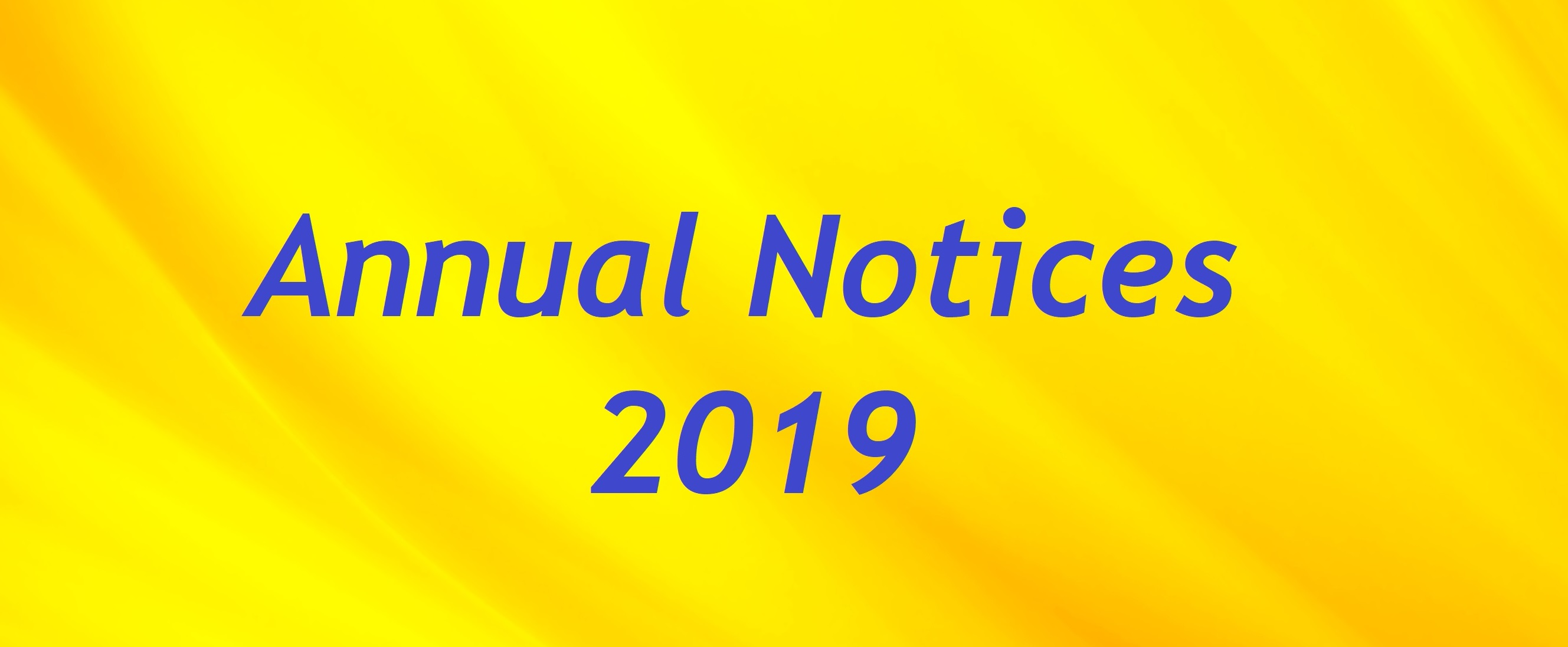 Annual Notices Mailing (10-10-19)