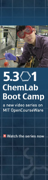 OCW's ChemLab Boot Camp.  Watch the series now.>>