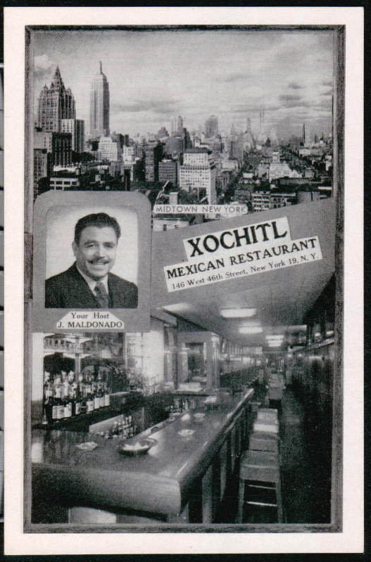 A Xochitl menu cover from OC Weekly's article about Mexican Food in NY