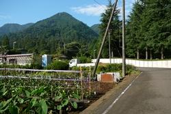 正面に見える山が仏果山