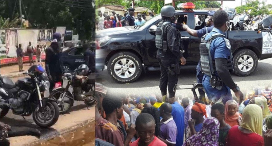 Video footage of how armed robbers shot policeman of Bullion van dead, took  his gun and sped away with the money - OdarteyGH