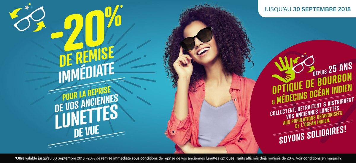-20% de remise immédiate sur vos anciennes lunettes