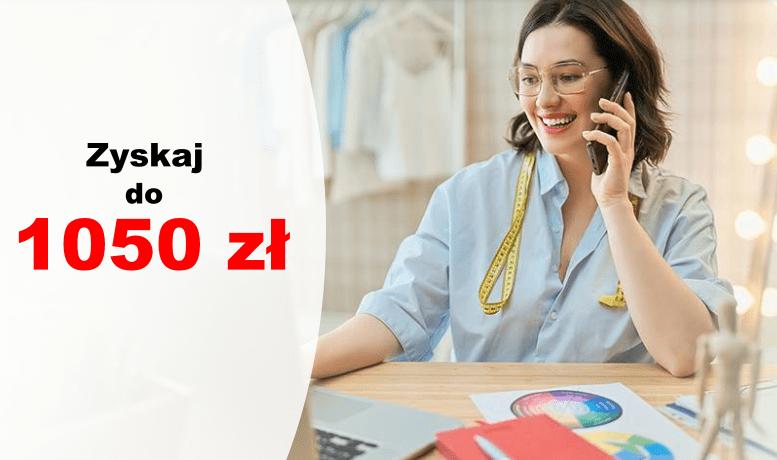 Konto Firmowe Godne Polecenia - zyskaj do 1050 zł