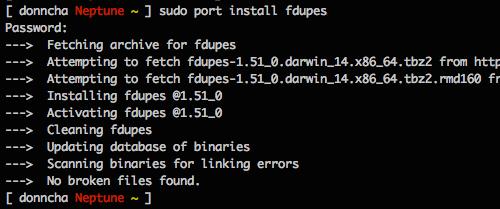 fdupes-macport-install