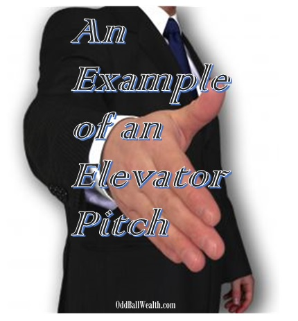 An Example of an Elevator Pitch