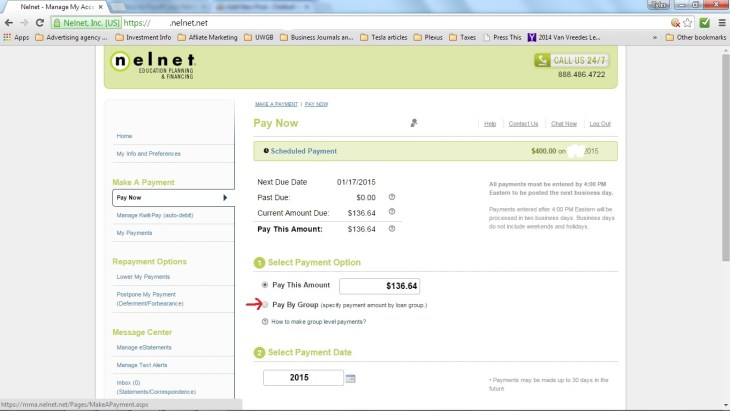 Nelnet Pay by Group