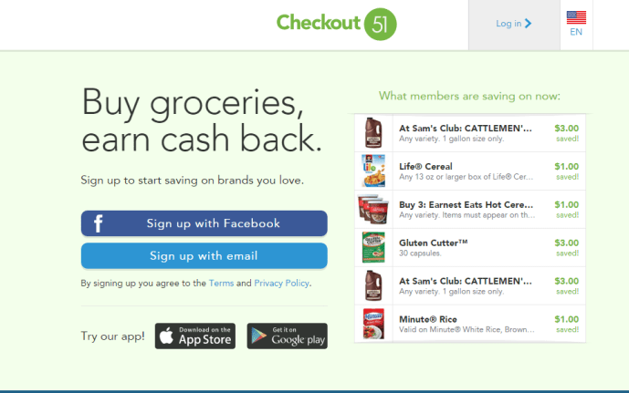 get cash back anytime you grocery shop