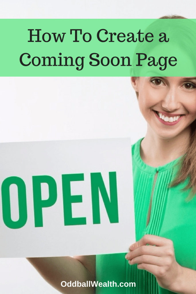 How To Create a Coming Soon Page