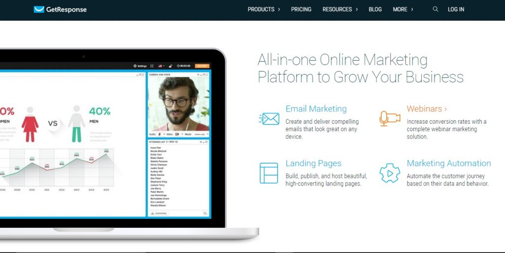GetResponse is an all-in-one online email marketing platform to help grow your business