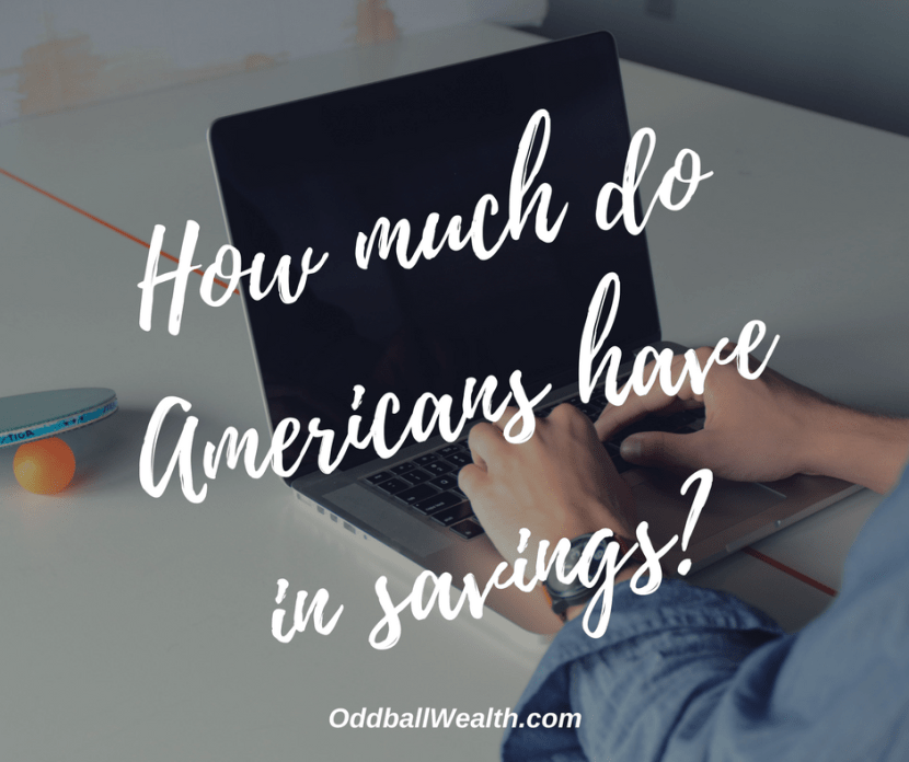 How much do Americans have in savings?