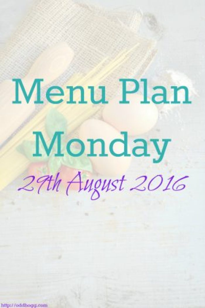 Menu Plan Monday 29th August 2016 - We plan out meals in advance to make like easier for ourselves. It took a while to get organised but it's a habit now and it really does work!