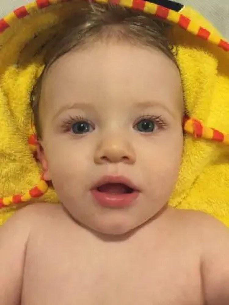 11 months old | Piglet towel http://oddhogg.com