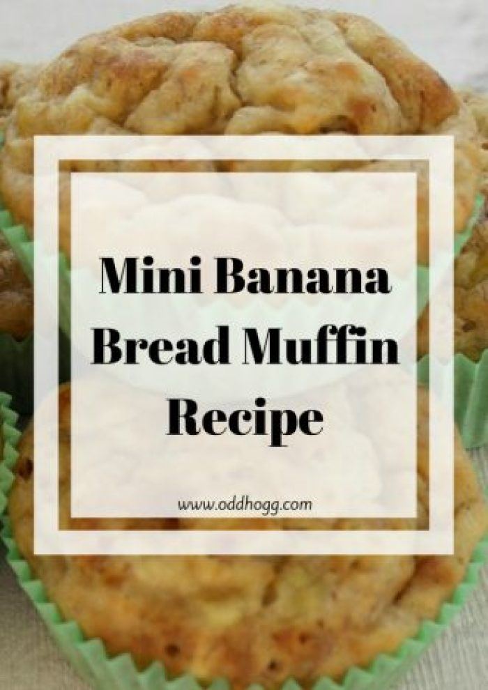 Mini Banana Bread Muffin Recipe | An easy recipe that replaces sugar with honey to give a natural sweetness. A treat that the whole family loves, and is a great way to get one of your five a day http://oddhogg.com