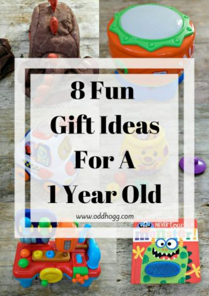 8 Fun Gift Ideas For A 1 Year Old | If you are looking for the perfect present to give a 1 year old on their birthday or for Christmas then I've got the perfect list for you. A range of prices to suit all budget http://oddhogg.com