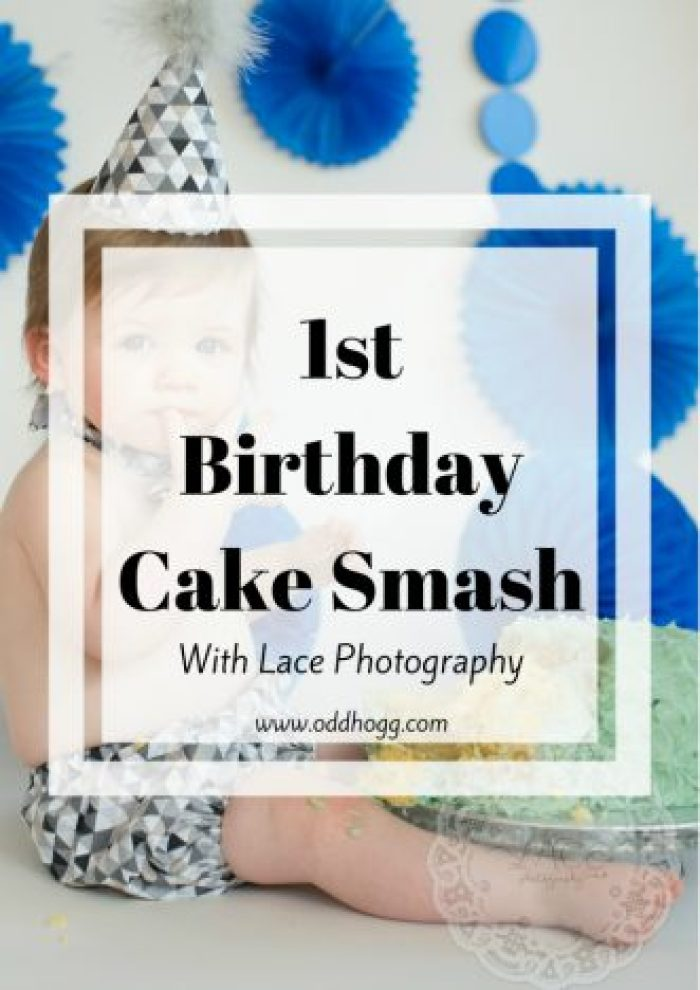 1st Birthday Cake Smash | We celebrated our baby's first birthday in the best way we knew how - with cake! It was a perfect way to capture his personality at this age, and our photographer did and excellent job http://oddhogg.com