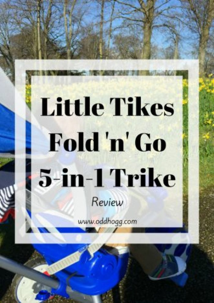 Little Tikes Fold 'n' Go 5-in-1 Trike | We have been trying a new trike. Suitable from baby through toddler and right up to preschoolers it seems to have something for everyone. Sturdy and reliable - we love it! http://oddhogg.com