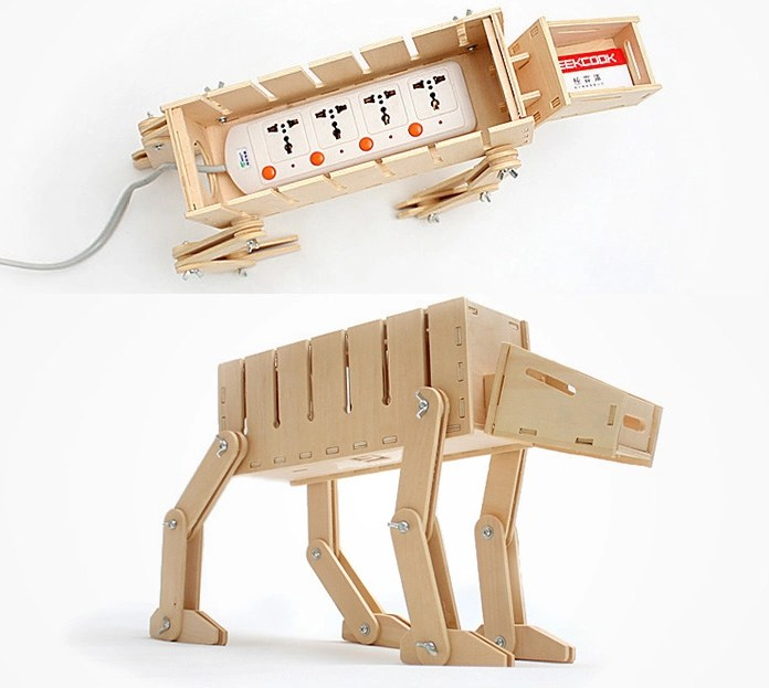DIY Star Wars AT AT Cable Organizer And Card Holder