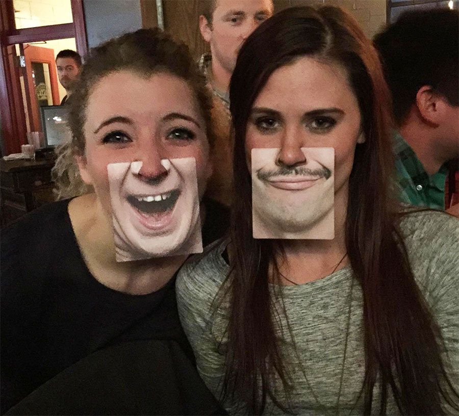 Face Coasters Attach To Your Nose Gives You A Funny Face
