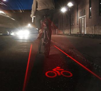 Laser Bike Lane Lights
