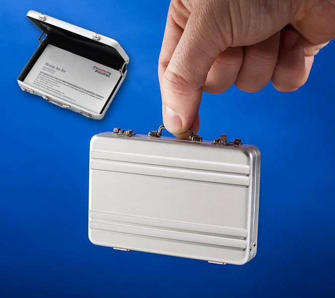 Mini Briefcase Card Holder Wallet