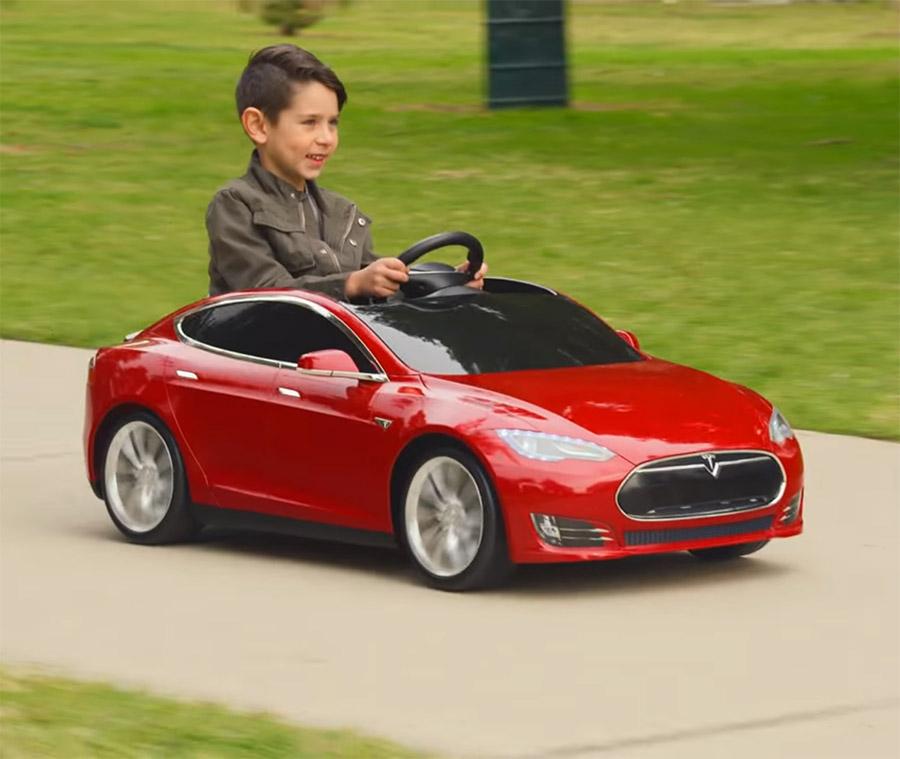 Mini Tesla Model S Kid S Toy Car