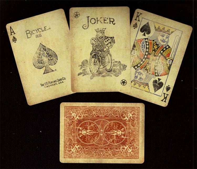 Pre Distressed Vintage Bicycle Playing Cards