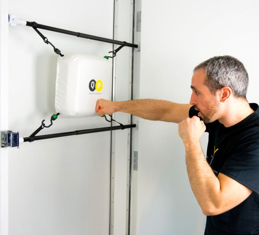 Quiet Punch Punching Bag That Attaches To Any Door Frame
